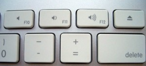 Apple keyboard volume keys