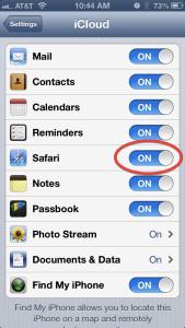 iOS iCloud settings