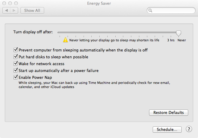 Sleep Settings OS X 10.8 and 10.9 with a Haswell processor
