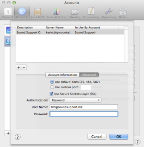 Edit SMTP Password