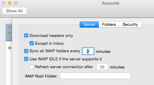 Outlook Sync Settings