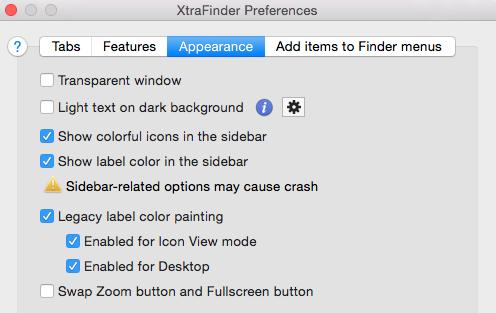 XTraFinder Preferences
