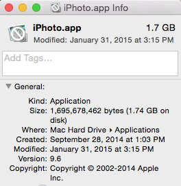 iPhoto version 9.6