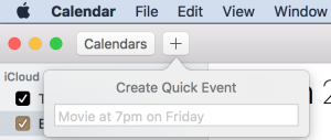 Create Quick Event