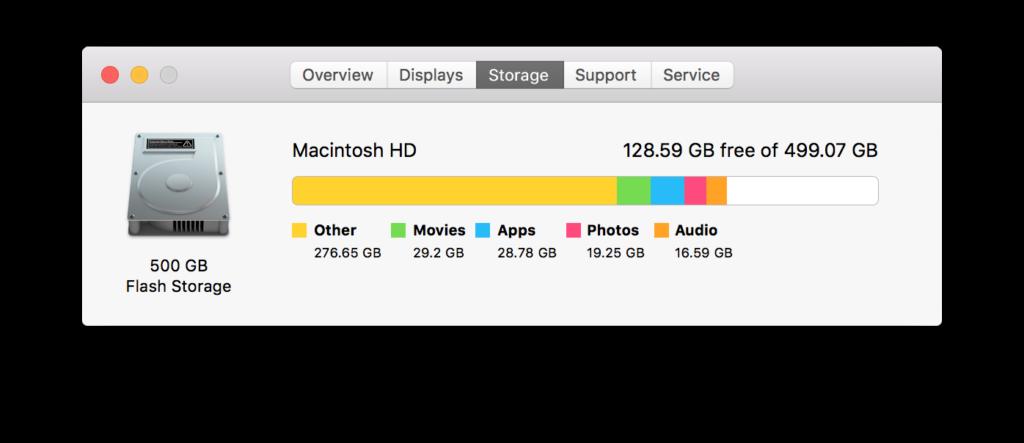 Macintosh Storage Details