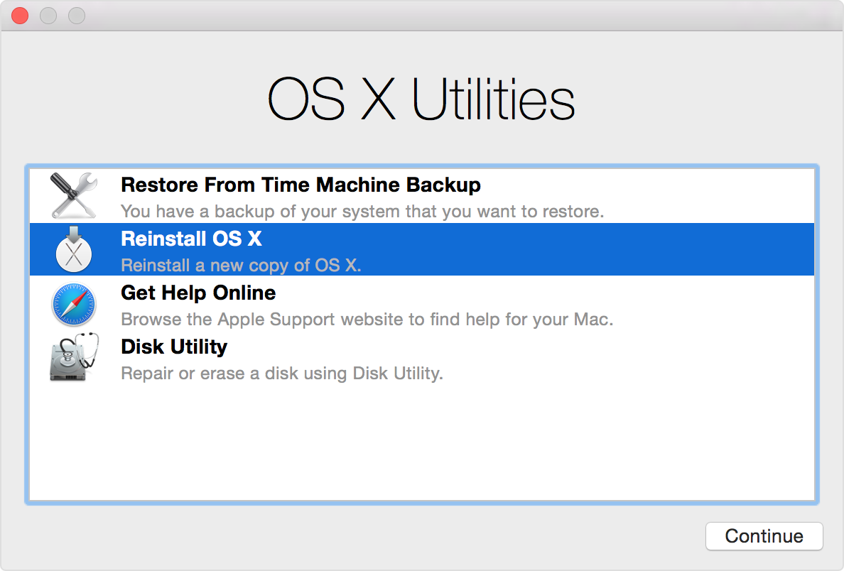Reinstall Mac Operating System From The Recovery Partition - Sound