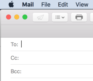 Mail with BCC line