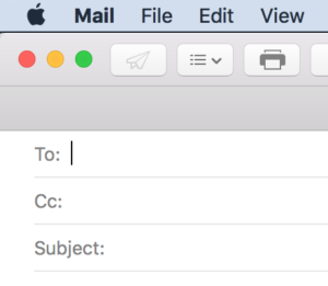 Mail without BCC line