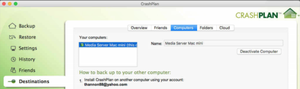 Remove Computers From CrashPlan