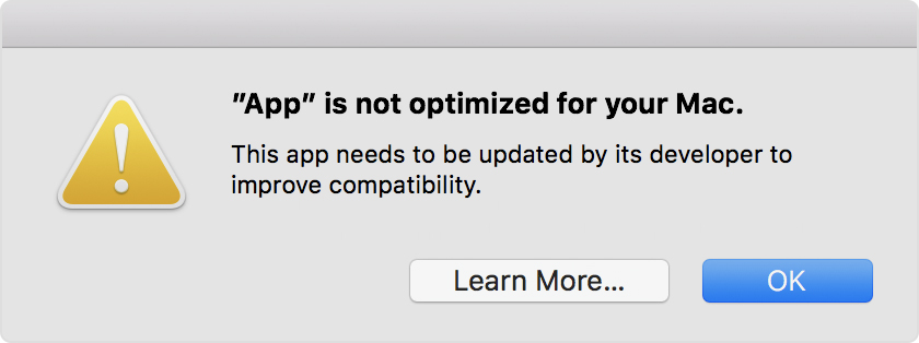 32-bit app alert