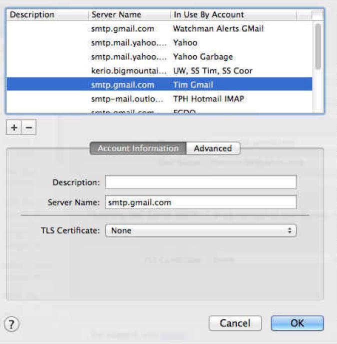 Edit SMT Server List