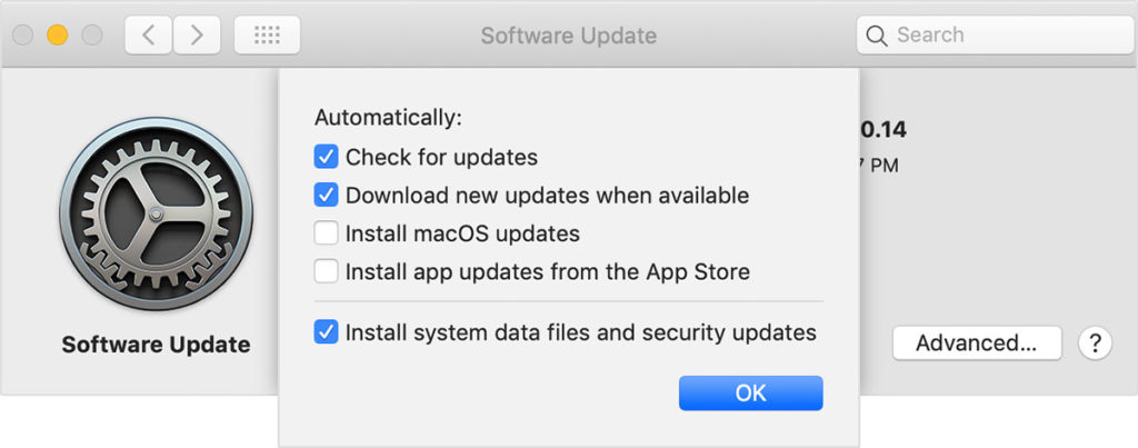 Mojave Automatic Update